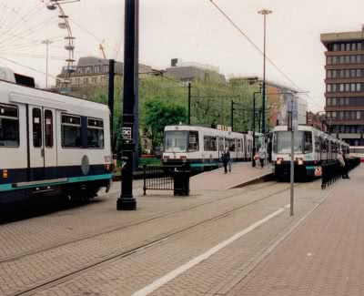 Manchester Metrolink - Piccadilly Gardens, 8th May 1999